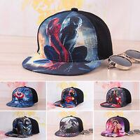 Kids Boy Girl Superhero Baseball Cap 3D Print Snapback Summer Hip Hop Peaked Hat