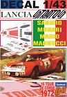 DECAL 1/43 LANCIA STRATOS HF S.MUNARI TOUR DE CORSE 1972 DnF (02)