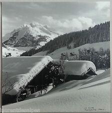 Neige ski La Clusaz 1950. Photo argentique originale. Tirage signé Machatschek