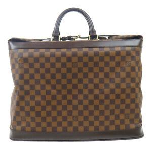 LOUIS VUITTON GRIMAUD TRAVEL HAND BAG PURSE DAMIER EBENE SP0011 N41160 92946