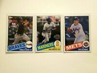2020 Topps 35th Anniversary 1985 Style Lot Of 7 - Griffey, Acuna, Ripken, Alonso