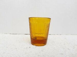 1920s Vintage Old Amber Color Tequilla Shot Miniature Glass SGF Tumbler Japan