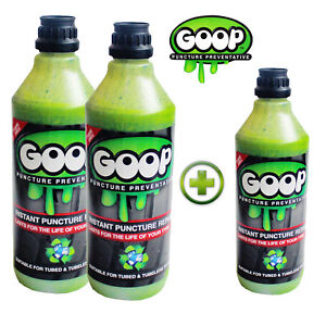 Goop Tyre Puncture Sealant Puncture Preventer 2 Litres + 500ml / Made in UK
