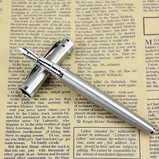 BAOER 3035 Design Edelstahl Metall Silber Medium Feder Füllfederhalter Geschenk