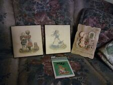Lot of 3 Vintage Holly Hobbie Pictures and Crossword Book