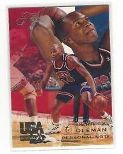 1994 FLAIR USA U.S.A. BASKETBALL DERRICK COLEMAN #15 - PERSONAL NOTE