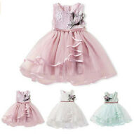 New Girls Bridesmaid Dress Baby Flower Lace Kids Party Wedding Dresses Clothes