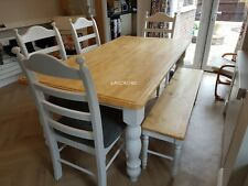 Stunning  6ft x 3ft Table And Chair / 1 or 2 Bench Set - Courier Delivery