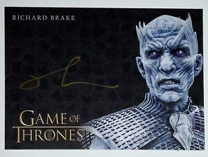 Game of Thrones Iron Anniversary Richard Brake Auto Autograph Gold Signature