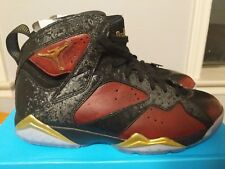 Nike Air Jordan 7 VII Retro DB X Damien Phillips Black Red Gold Doernbecher sz11