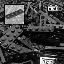LEGO Plate 1x4 Black x50 Part No: 3710, City, Parts / Pieces