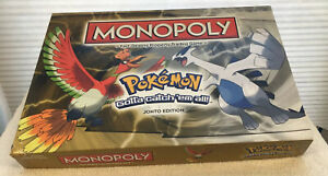 Monopoly Pokemon Johto Edition Board Game Hasbro Complete  with 6 pewter tokens