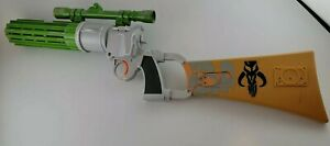 STAR WARS Boba Fett Blaster Hasbro 2009 Mandalorian Gun Cosplay ROTJ Test/Works!