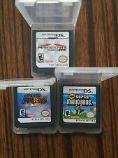 Nintendo 3 Pcs Mario Kart DS+Super Mario 64 DS+New Super Mario Bros Version Test