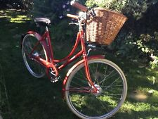 Pashley Ladies Bike Red with Front Wicker Basket