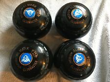ALMARK CLUBMASTER bowls set of 4 size 0 medium nice condition with carry bag