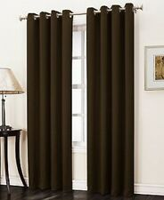 "2 PANELS SILVER GROMMET THERMAL LINED BLACKOUT WINDOW CURTAIN DRAPE 55"" WIDE K60"