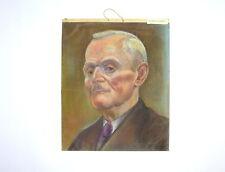 Gemälde Bild Portrait Pastell Pastellbild signiert 1956