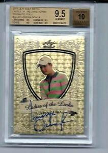 Leaf Metal Gold Prismatic Golf CARD Lorena Ochoa  #1/1 BGS Gem MINT 9.5 Auto 10