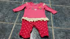 Baby girl long sleeve romper size 0-3 mths by Ladybird