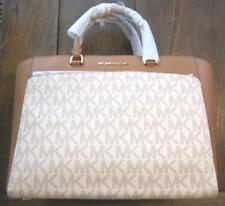 MICHAEL KORS AUTHENTIC NEW EMMY VANILLA ACORN TOTE LEATHER HAND BAG 35S8GY3T7B