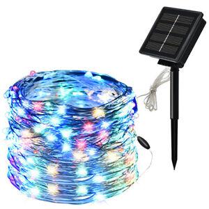 Solar String Lights Waterproof Outdoor Copper Wire Garden Decor Xmas Party Decor