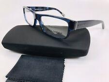 ✴New Dolce Gabbana DG 3104 1574 Transparent Blue & Black Eyeglasses 53mm w/Case