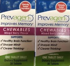 Lot Of 2. PREVAGEN Chewables 30 Tablets. Total 60 Tablets. New. Free Shipping.