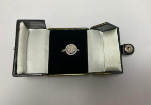 Women 9CT White Gold 0.50CT Diamond Ring