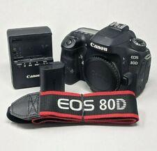 Canon EOS 80D 24.2MP Digital SLR Camera - Black (Body Only) - Read Description