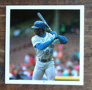 "Ken Griffey #7 Sticker 1991 Hit Men 2.5X2.5"" Cut Photo Mint Oddball"