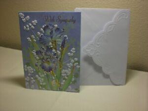 Carol's Rose Garden -  Sympathy card - Two Blue Iris on front