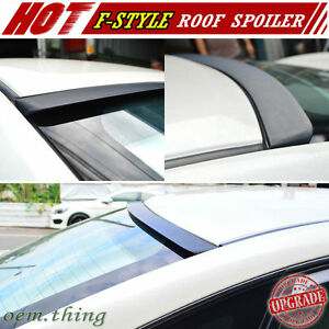 Fit For ACURA TSX CU2 Rear Window Roof Spoiler 2014 Unpainted F-Style