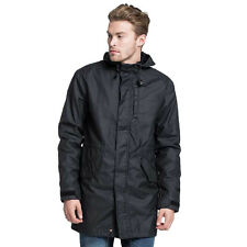 NEW! Levi's Mens Long Canvas Coat Jacket Bomber 2-in-1 Black XL