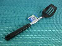 FLAWED Vtg EKCO Nylon Slotted Serving Spoon Black Plastic Handle New Old Stock