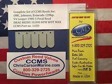 CCMS OMC Johnson Evinrude Drag Outboard Reed Valves 120hp 1985 V4 5 Petal PN145D