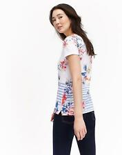 188d9ab088ed8 Joules Womens Nessa Print Jersey T shirt in WHITE STRIPE WHITSTABLE FLORAL