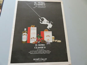 Advertising On Page Original Years 50/60 Advertising Vintage Roger & Gallet