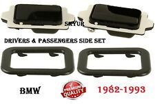 Front & Rear Drivers Side Inner Door Pull Handles With Trim Covers Set For BMW
