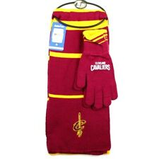 CLEVELAND CAVALIERS NBA KNIT SCARF & GLOVES GIFT SET STRIPE BRAND NEW NWT