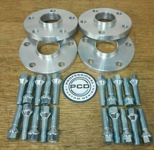 Peugeot TO Ford 5x108 Hubcentric Spacers 20mm Wide 65.1 TO 63.4CB & 16 Bolts