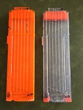 Two Nerf Mags. Both Holds 18 Darts. One Is Clear The Other Is The Regular Orange
