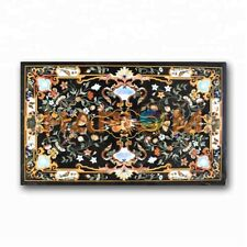 4'x2' Pietra Dura Marquetry Inlay Marble Dining Table Top Restaurant Decors B374