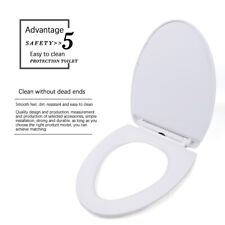 Pp Elongated Toilet Seat Set Slow-Close One-button Upload Quick Release Us Stock