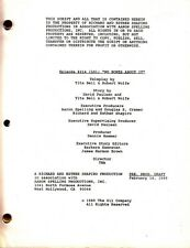 JOAN COLLINS - JOHN JAMES - Orig DYNASTY TV Script 'NO BONES ABOUT IT' 1989 C#12