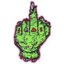 Yujean Zombie Finger Iron On Patch Punk Gothic Horror Dead Rockabilly Tattoo