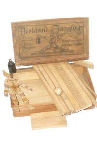 Der kleine Jongleur altes Spiel Kasper Clown Harlekin Holz Figur Holzspielzeug