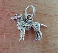Sterling Silver 3D 11x16mm solid Lab Labrador Retriever Dog Charm