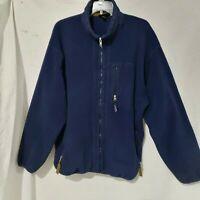 VTG Patagonia Synchizza Navy Blu Fleece Full Zip Men's Jacket Made in USA XL