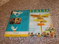 ALBUM ITALIA ED.LA FOLGORE 1965 (CROCEVIA)Q.COMPLETO(-48 FIG)OTTIMO TIPO PANINI